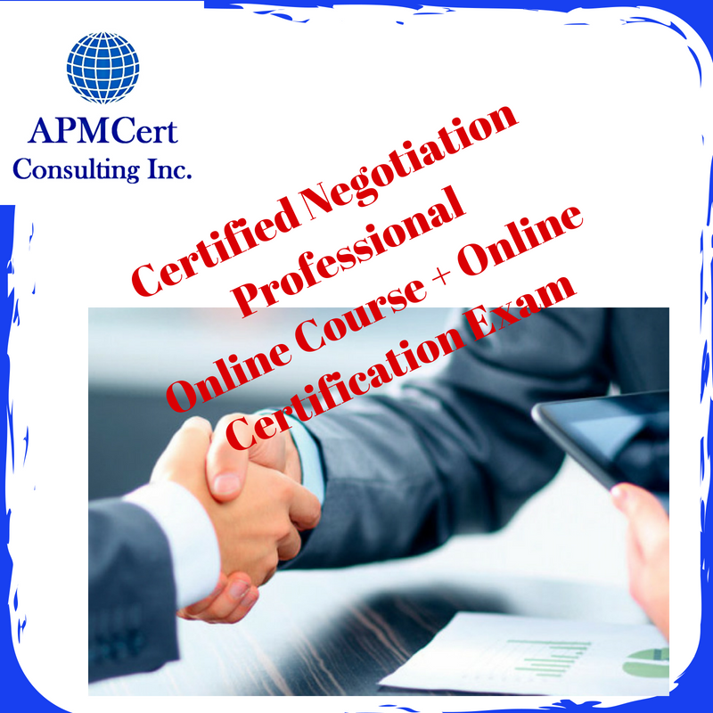 Certified Negotiation Professional Online Course Online